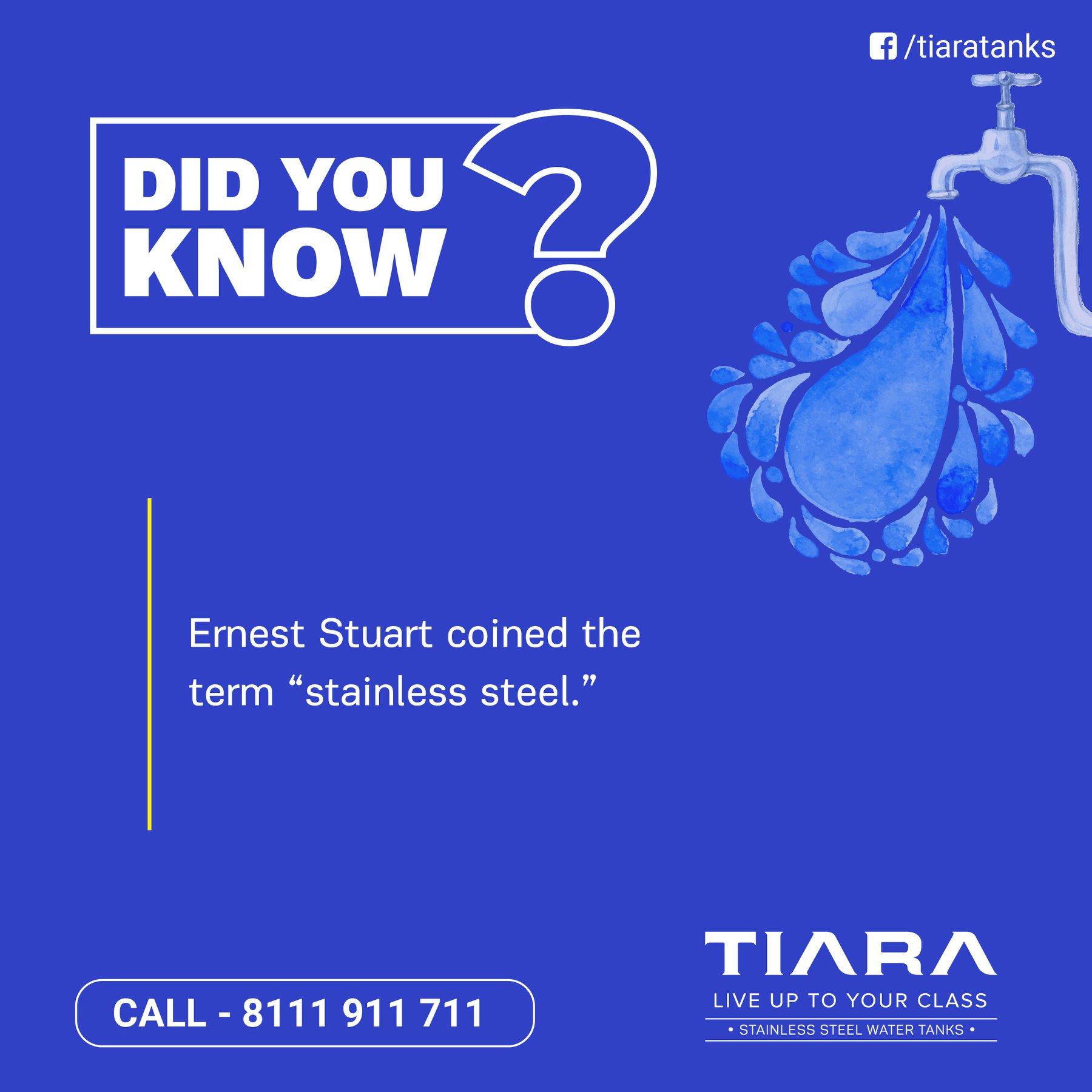 Tiara Stainless Steel Water Tanks